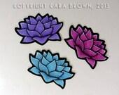 Lotus Stickers for Iphone case crafts or car window flower decal waterproof vinyl