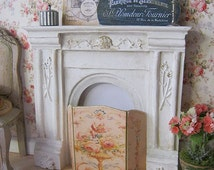 Aubusson Vase Fire Screen for Dollhouse