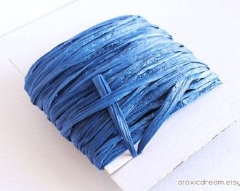 Royal Blue Raffia Ribbon - 30/100 yards  - 1/4 inch wide