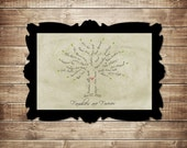 ELECTRONIC COPY Custom Family Tree, Typography Art,  11x14
