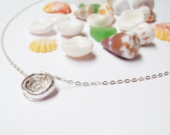 Handmade Puka Shell Necklace Sterling Silver