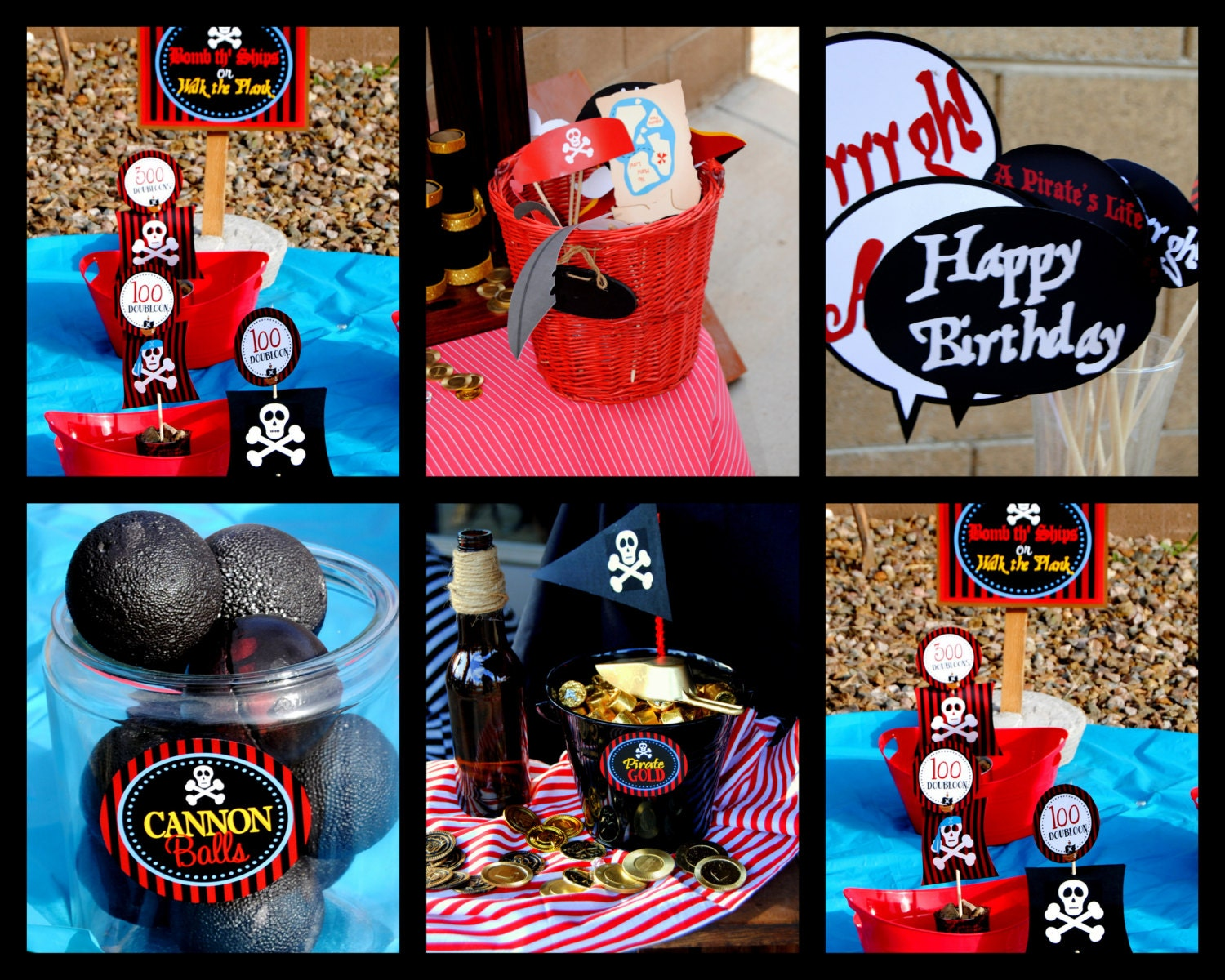 PIRATE Birthday Party GAMES Printable Signs by KROWNKREATIONS - photo#27