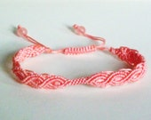 Coral Macrame (For European Clip Bead) Friendship Knot Bracelet