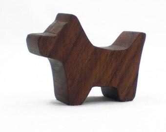 Wooden Dog Toy - Wood Scottish Terrier - Scottie Dog, animal toy, wood dog toy, scottish terrier, scottie, wooden dog, dog figurine, dog toy