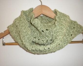 Crochet Scarf Green Crochet Handmade