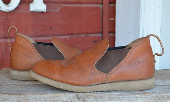 Vintage Red Wing Romeo Slip On Short Boots 10