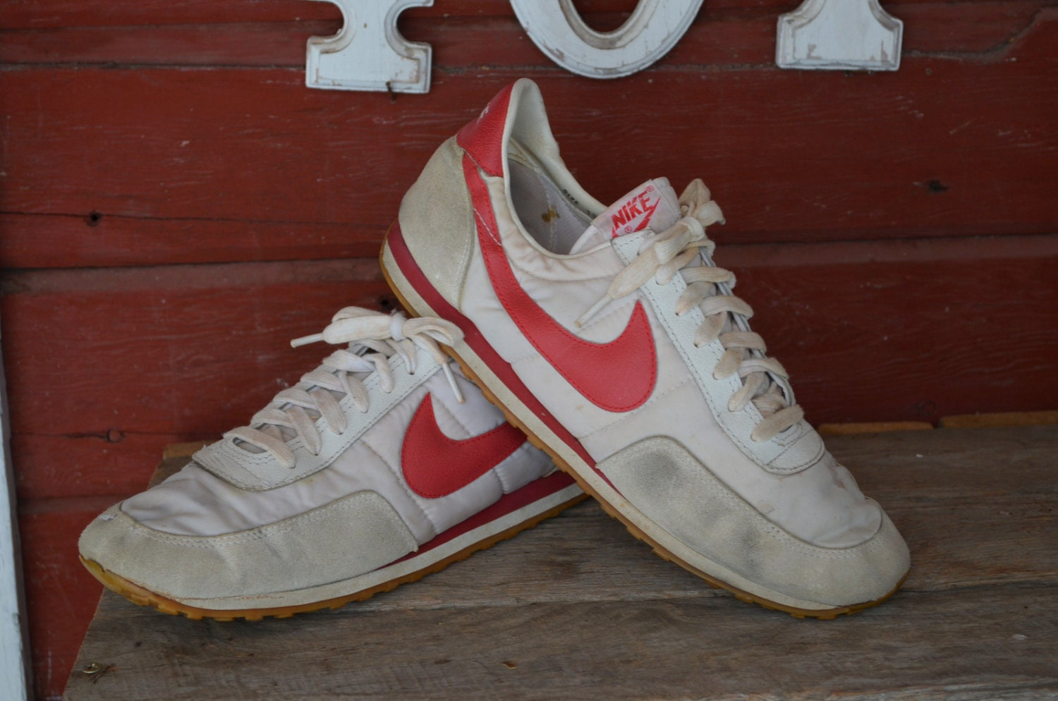 Vintage 1980s Nike Made In Korea Waffle Bottom Running Shoes