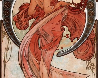 ART NOUVEAU Giclee Print DANCE by Alphonse Mucha