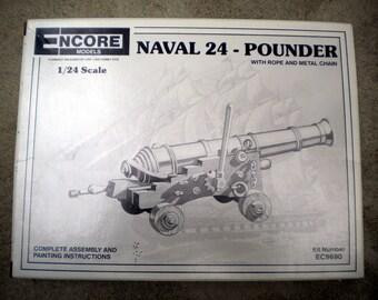 """Encore 24"""" Naval Gun Model Kit"""