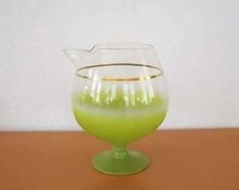 Vintage Lime Green Blendo Martini Pitcher