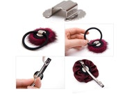 20pcs ..For DIY Hair Ponytail Holder and headband Attachment Base in Silver Tone