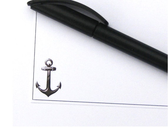 Stationary Note Card Set // Pk of 10 Postcards with Envelopes // Original Nautical Anchor Design // Summer Stationary & Gifts