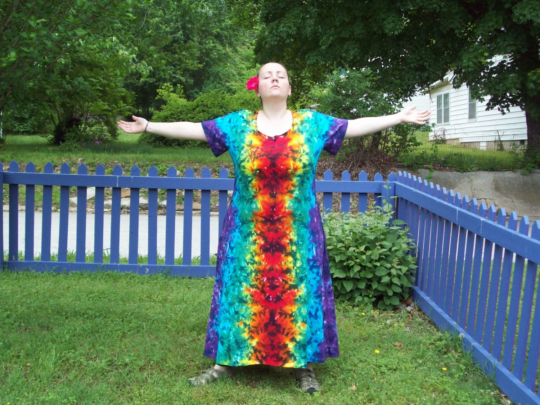 Tie dye plus size dresses