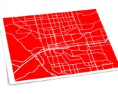 Spokane City Art Print / Washington Map Poster University Grad Gift Dorm Decor / 8x10 Digital Print / Choose your color