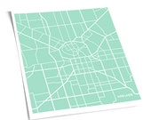 Adelaide City Line Art Map / South Australia Poster Wall Art / 8x10 Giclee Print / Choose your color