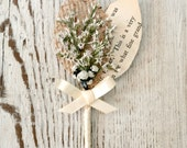 Rustic Handmade Wedding Groomsmen's Boutonniere - Rustic Collection - White Dried Flowers, Burlap Leaf, Vintage Book Page Leaf