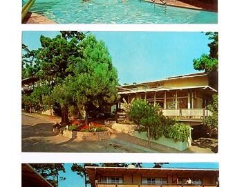 NOW HALF PRICE  3 Vintage postcards Tradewinds Studio Inn, Carmel-by-the-Sea, Calif.