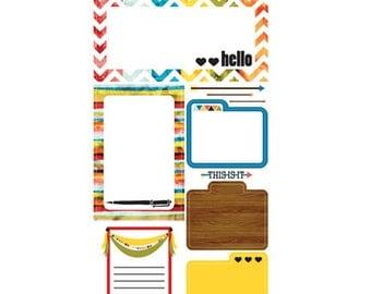 50% OFF - Glitz Design Color Me Happy Journaling Stickers -- MSRP 4.00