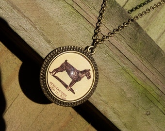 Schnauzer Dog Necklace--Handmade Cabochon Vintage Dictionary Print Dog Lover Jewelry--Christmas Gift