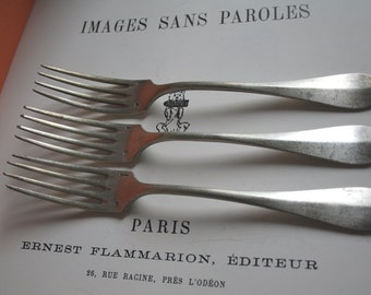 FRENCH Antique FORKS // Silver plate