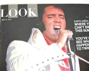 Vintage Elvis 1971 Look Magazine Earth Day Twiggy Vol 35