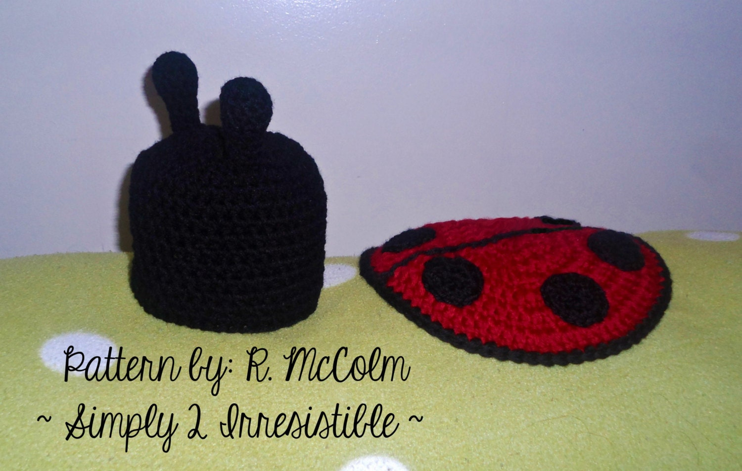 Ladybug hat and cover cape set crochet pattern set 105 this is a digital file bankloansurffo Choice Image