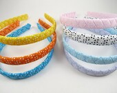 Polka Dot Headband - Braided Woven Headband - Blue Orange Yellow Pink White Polka Dot Headband - Toddler Adult Headband - YOU CHOOSE ONE