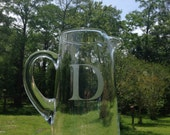 Personalized Etched Glass Pitcher