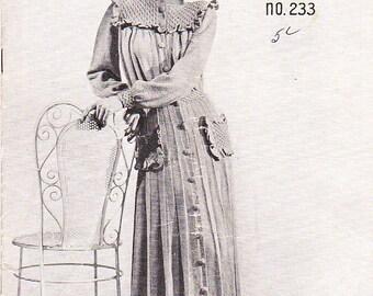 Paton's Knitting, Crochet Pattern For Women/Ladies Bed Jackets Underwear No 233 (Vintage 1940s) Original pattern