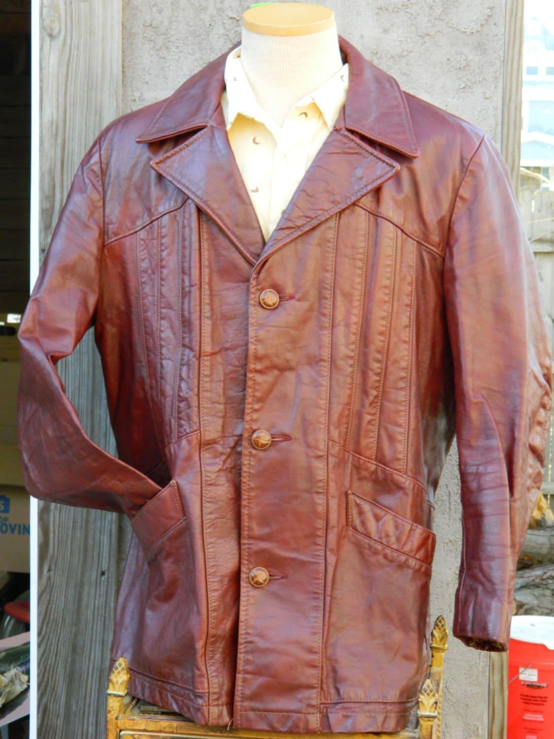 1970s leather jacket