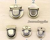 3 Sets Antique Brass Handbag Buckle (T29)