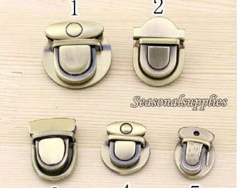 3 Sets Antique Brass Handbag Buckle (T29)