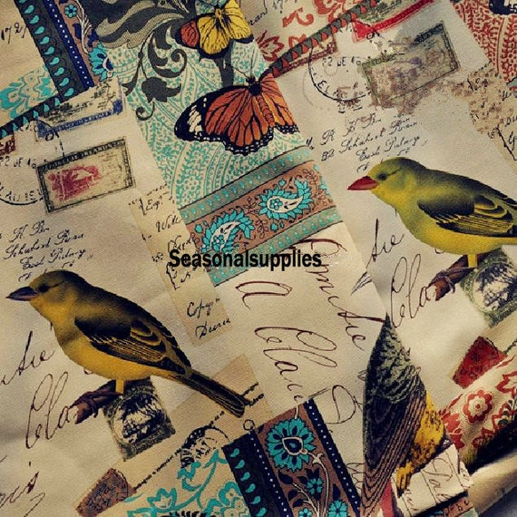 Vintage Fabric Bird 41