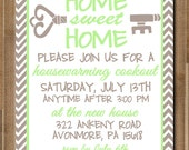 "PRINTABLE Housewarming Invitation: ""Home Sweet Home"" -- CUSTOM -- 5x7 Flat"