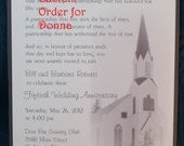 Custom Order for Donna - 50th Anniversary Panel Pocket Invitation Suite - Final Payment