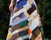long patchwork skirt - Archive 12 :  handmade hippie patchwork scraps, vintage, eco, hand dyed, organic, hemp fabrics LIMITED EDITION