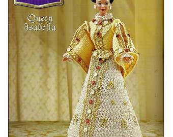 The Royal Court Collection Queen Isabella Fashion Doll  Crochet Pattern  Annies Attic