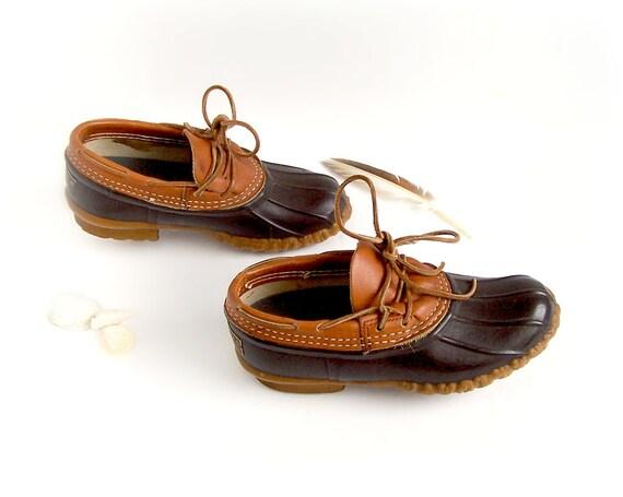 Womens l l bean size 6 boot duck shoe rubber moc low cut ducks
