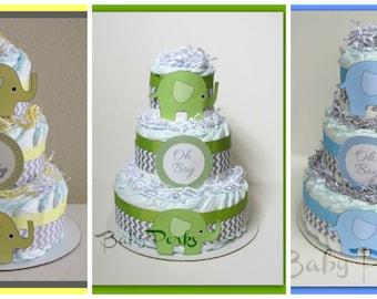 yellow gray elephant chevron diaper cake yellow and grey chevron green u0026 grey baby