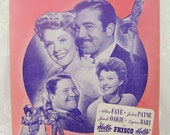 You'll Never Know- Antique Piano Sheet Music- from the movie musical 'Hello, Frisco, Hello'- 1943