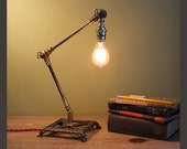 No. 18, Small Swivel Edison Desk Lamp, OOAK, antique, vintage, victorian