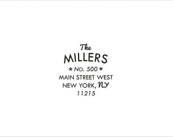Custom Address Rubber Stamp -  The Millers