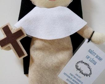 Saint Rose of Lima Felt Doll