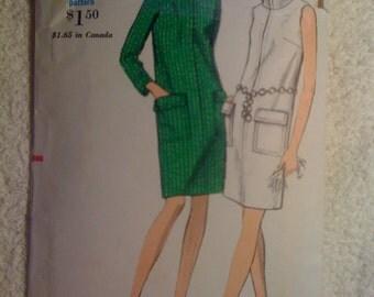 70s Misses One Piece Slim Dress Vogue Sewing Pattern 7222 Size 14 Sale