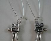 Directors Film Camera Earrings