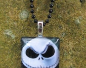 Jack Skellington Glass Pendant Necklace Jewelry