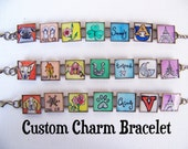 Personalized Custom Charm Bracelet - Each Original Hand Painting