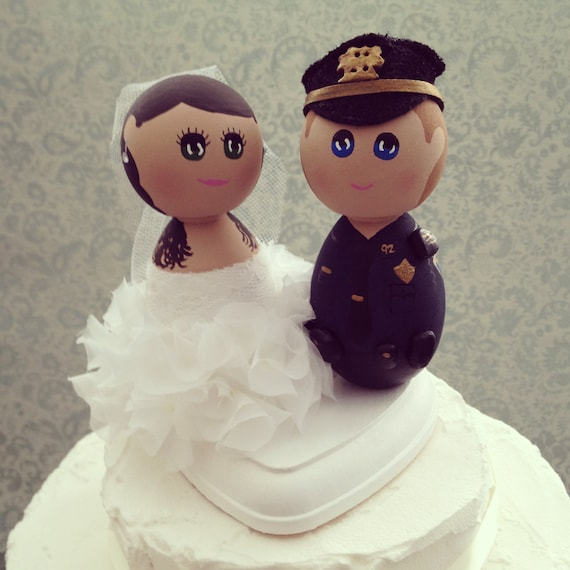 Items Similar To Custom Hand Painted Wooden Wedding Cake Topper