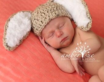 Crochet Baby Hat Easter Bunny Rabbit Ears  Photo Prop Baby Boy Baby Girl  Bunny Hat floppy ear Bunny Hat