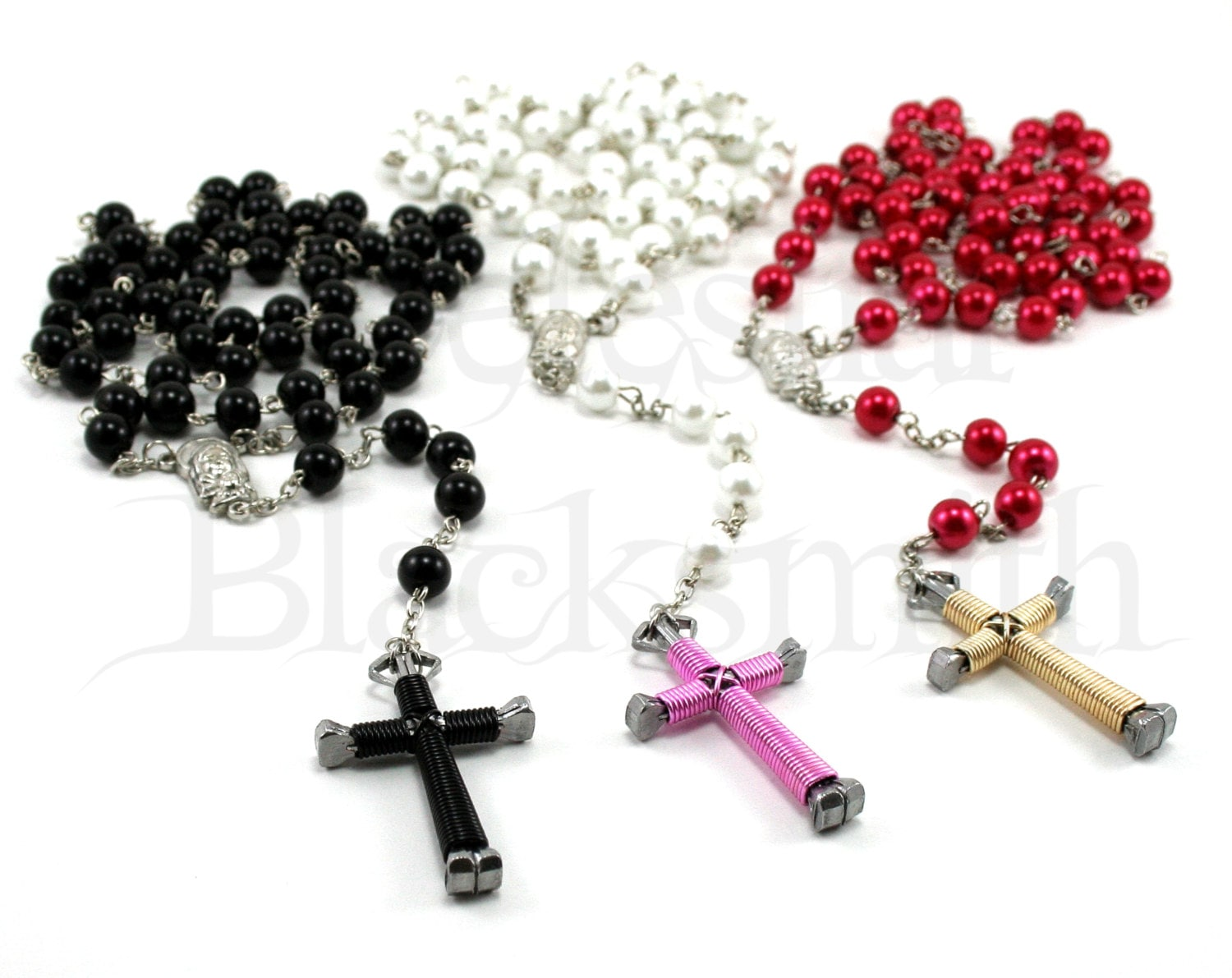 Rosary Cross Necklaces For Men Rosary Cross Necklace Wire